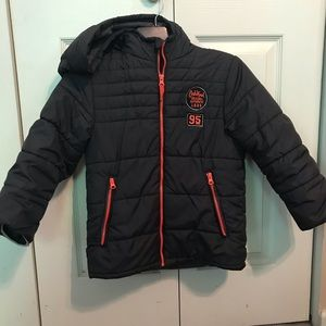 OSH KOSH Size 7 Boys Puffer Jacket Gray Orange
